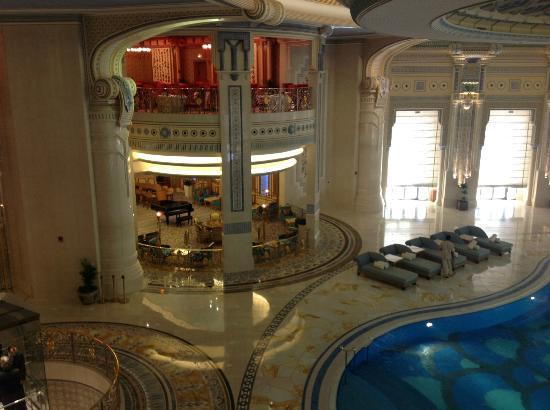 The Ritz-Carlton, Riyadh : looking into the pool area rom the club lounge