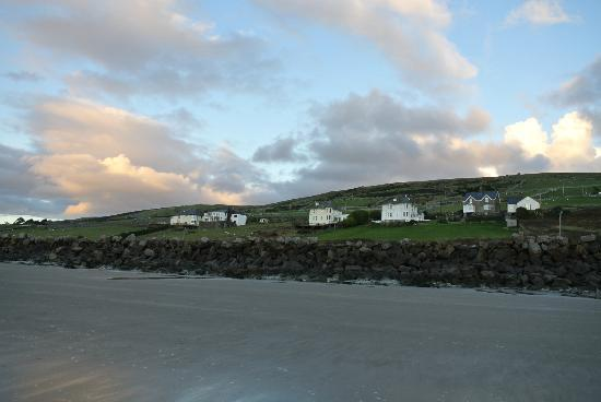 Morwendon House: View of the house from the beach