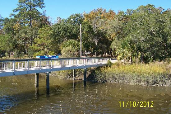 Fort McAllister State Historic Park Campground: fishing pier