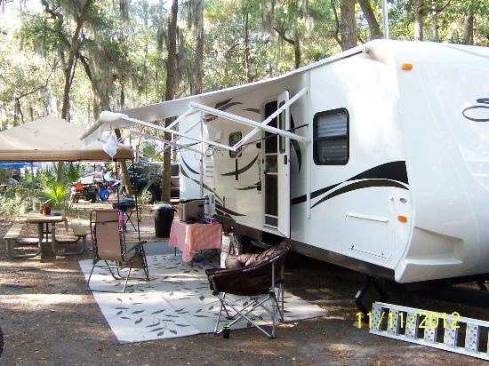 Fort McAllister State Historic Park Campground: our campsite #50