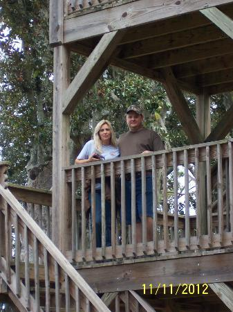 Fort McAllister State Historic Park Campground: observation tower at the fort