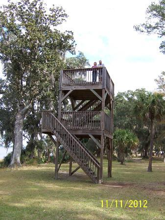 Fort McAllister State Historic Park Campground: observation tower