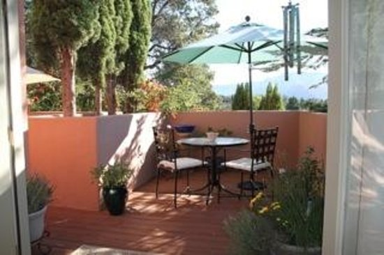 Crystal in Sedona - Private Organic Spa: Relax and enjoy a beautiful view from the deck.