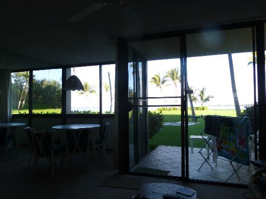 Kihei Surfside: inside looking out