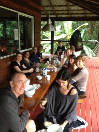 Prema Shanti Yoga & Meditation Retreat: Our last breakfast together
