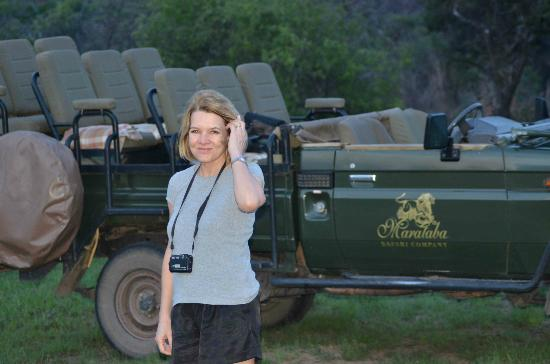 Marataba Safari Lodge: Stopping for a drink during game drive