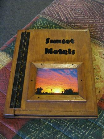 Sunset Motel: Unique guestbook, very impressed