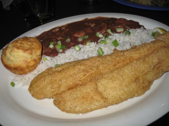 The Birchmere: Catfish, red beans and rice - very good