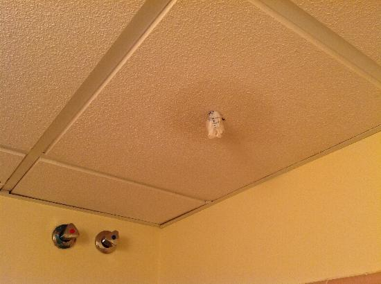 Apartamentos ATH Domocenter: Agujero en techo cuarto de baño
