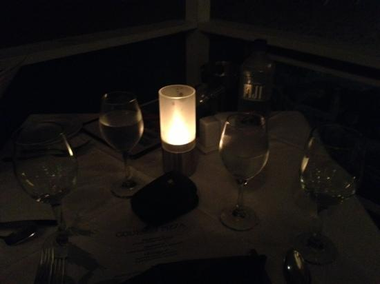 Trattoria Tramonto: our table