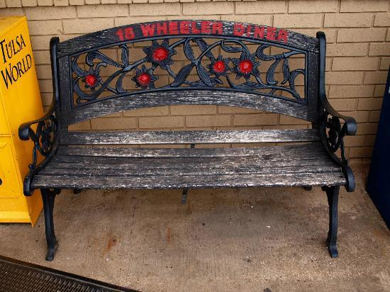 18 Wheeler Diner: Well worn seat