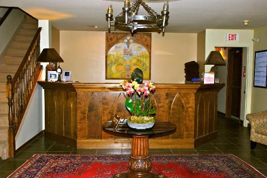 Grail Springs Retreat: check in counter