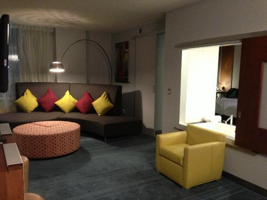 Aloft Asheville Downtown: suite - mine!