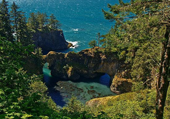 Brookings, Орегон: The natural bridges at Samuel H Boardman State Park