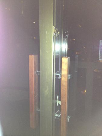 Broken lock on terrace door