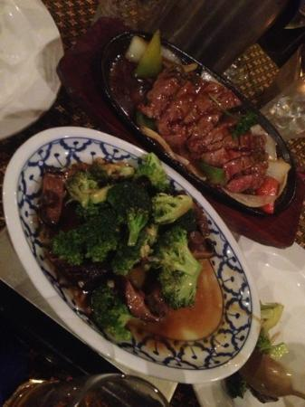 Bhan Thai: beef and broccoli