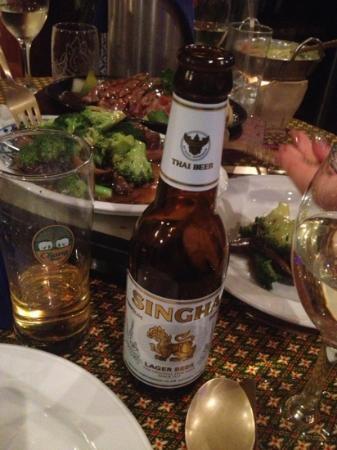 Bhan Thai: singha Thai beer