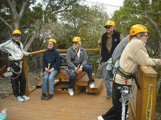 Lake Travis Zipline Adventures: Taking a break . . . .