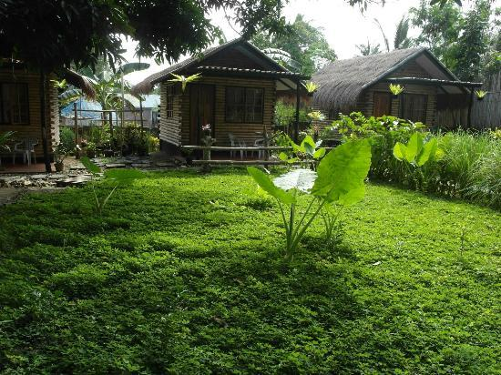 Subli Guest Cabins: garden and our cabin