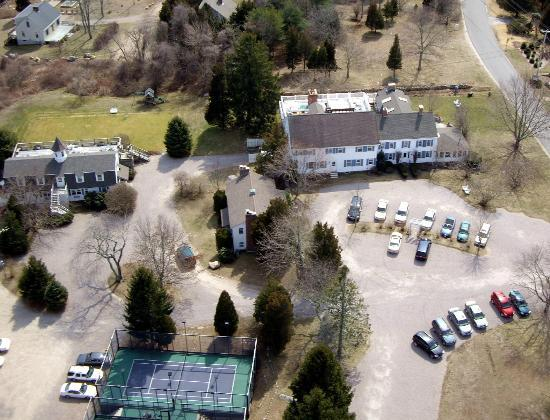 Shelter Harbor Inn: Aerial photo of Inn