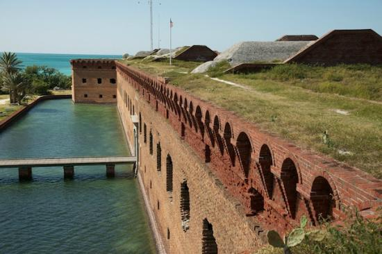 Fort Jefferson: From Inside the Fort, Looking Out at The Front Entrance and the Moat