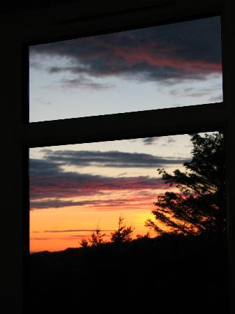 Rest A While: View of sunset from room #1
