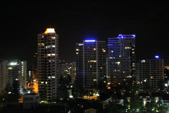 Breakfree Peninsula: City night view from our balcony