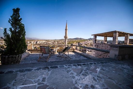 Argos In Cappadocia: We had not one but THREE terraces--all with stunning views.
