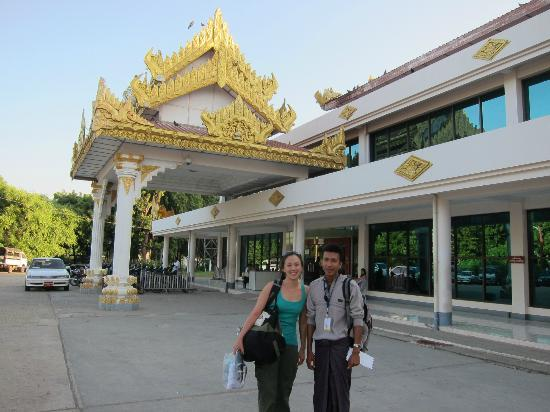 Min Thu Horse and Cart Tour: Minthu and I at airport