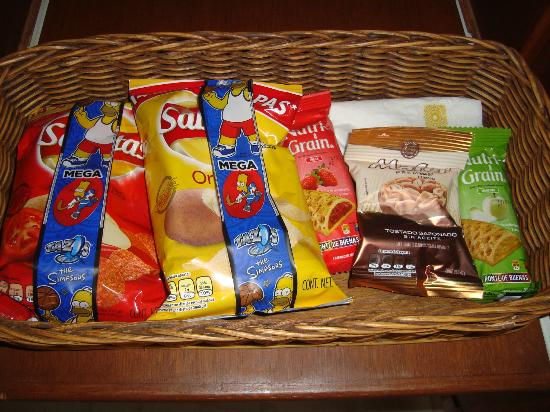 Casa Velas: Snack basket replenished daily in room..