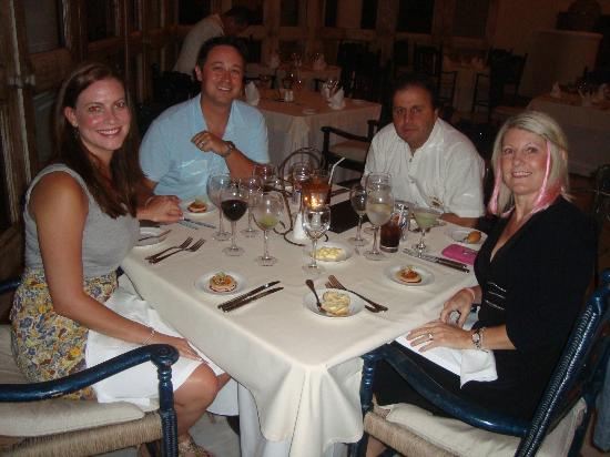 Casa Velas: Dining with newlyweds in Emiliano Restaurant..