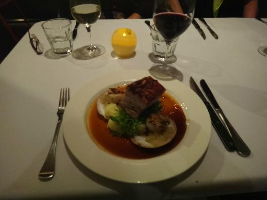 Zephyr Mediterranean Cuisine: This was my pork belly spare ribs on amsh with scallops