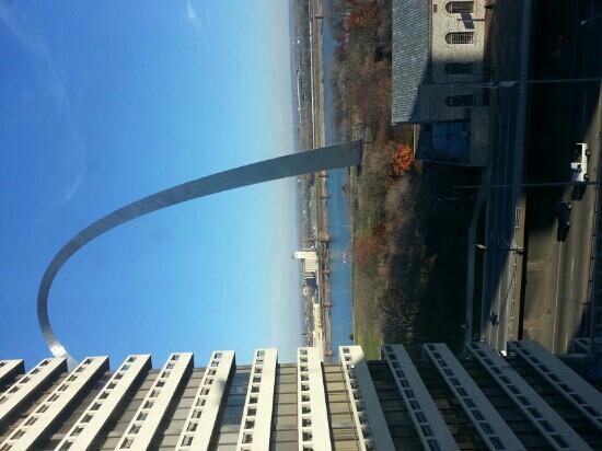 Drury Plaza Hotel at the Arch: view from room 936.