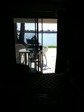 Oceanside Marina Suites: The view from the patio