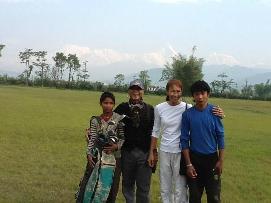 Himalayan Golf Course: With the caddies.