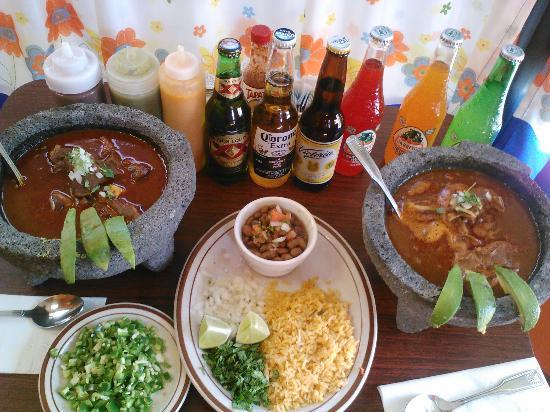 Taqueria El Huarache: lamb in molcajete