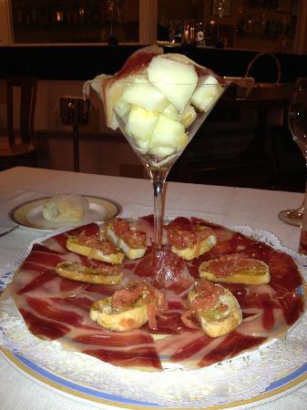 Javier Martín: jamon iberico con melon