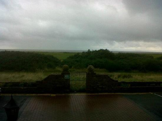 The Marine Hotel: View from front door (it was a bit cloudy)