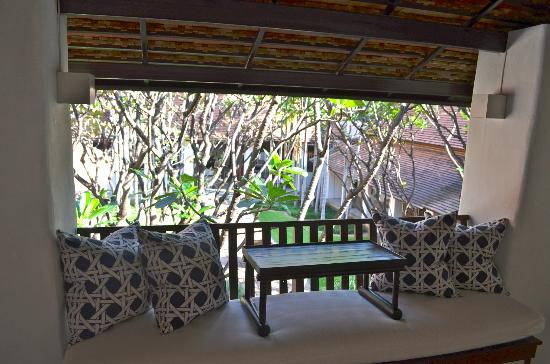 Rachamankha: Balcony outside deluxe room