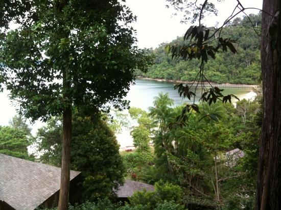 Bunga Raya Island Resort & Spa: the view from our first room ( top view)