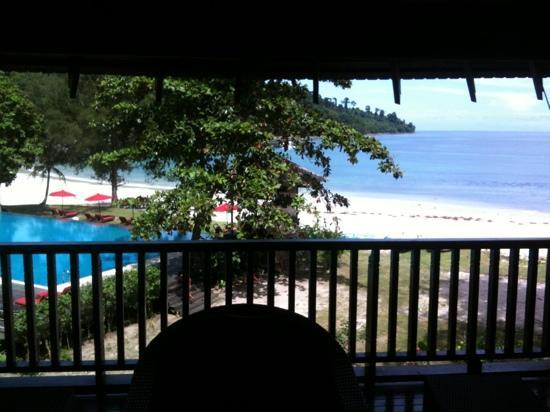 Bunga Raya Island Resort & Spa: la vue de notre deuxième chambre