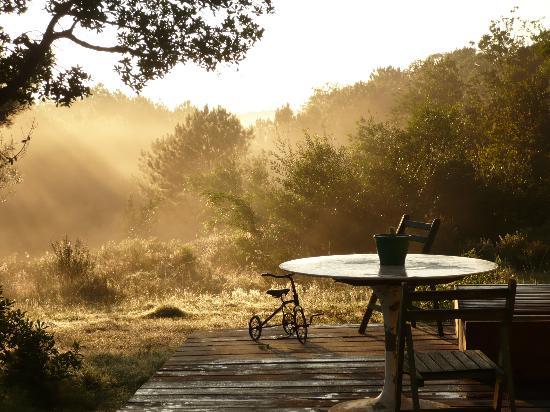 Bouland Uruguay : Deck donde desayunar