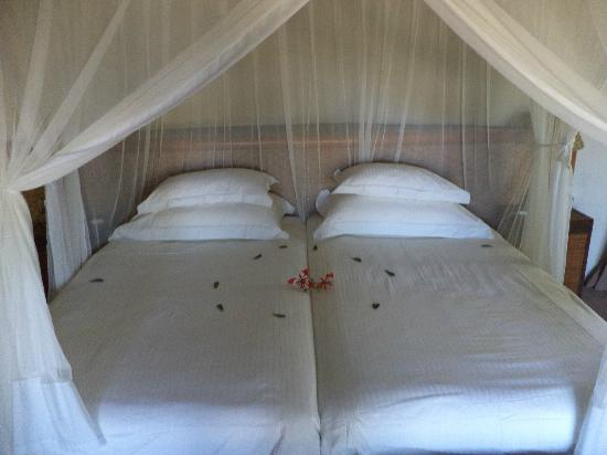 Motswari Private Game Reserve: Hut beds - no bugs!
