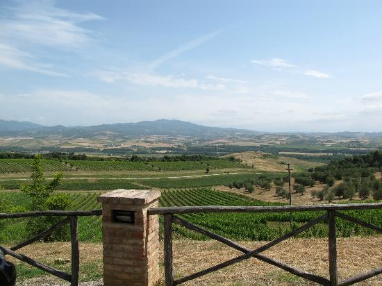 Montalcino, Italy: View from Castello Banfi carpark