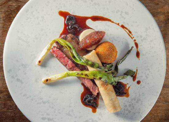 The Samling Hotel: Twice Cooked Rib Eye, Snail Cigar with Parsley Bon Bon