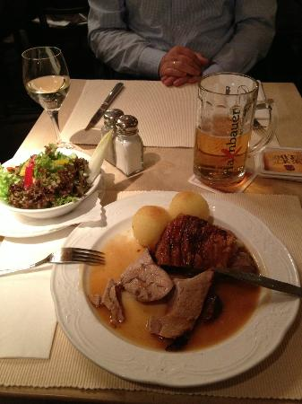 Main course of Set Meal 2 at Haxnbauer, Munich