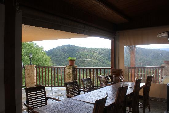 Paradisos Hills: view from restaurant deck