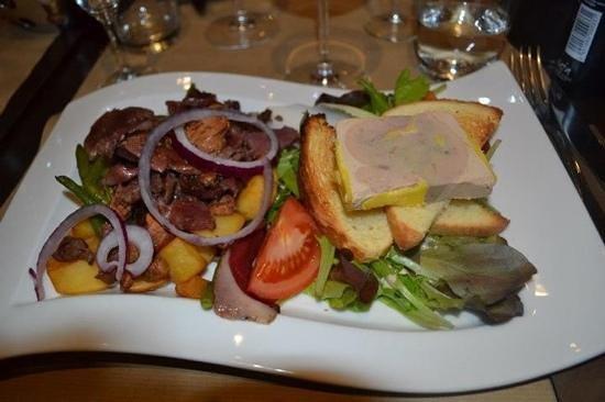 La Focaccia: entrée foie gras , gésier ....