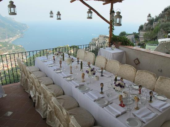 Hotel Parsifal Antico Convento del 1288: Wedding set up on our terrace