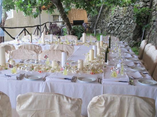 Hotel Parsifal Antico Convento del 1288 : Wedding set up on our garden terrace
